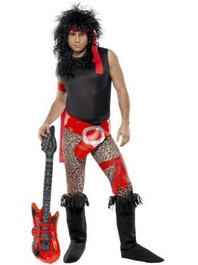 1980s Mens Rock Star Costume - M & L